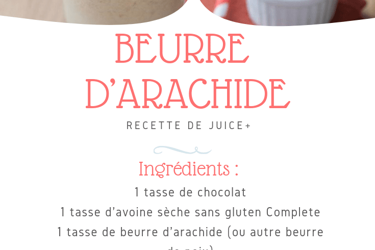 Shake beurre d'arachide | Juice Plus +